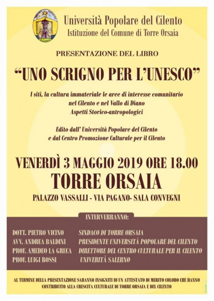 """""""Uno scrigno per l'Unesco"""" - Presentazione libro"""